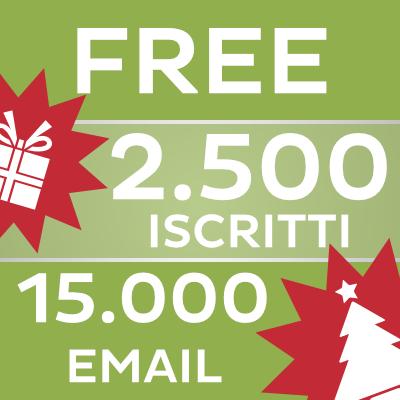 Invio Email Gratis a 2.500 iscritti